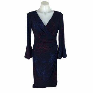 Lauren by Ralph Lauren Jersey Bell Sleeve Dress Wo